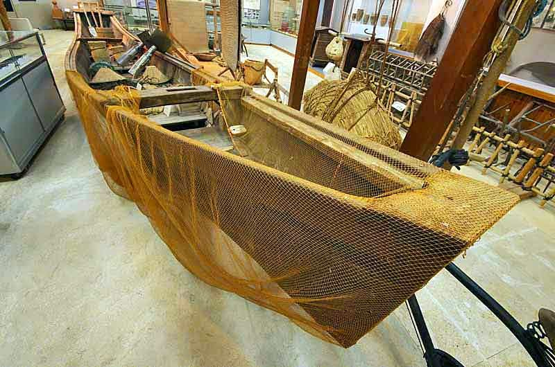 sabani boat,museum,fishing nets and tools