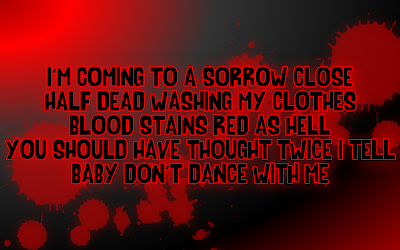 Bloody Mary - Lady Gaga Song Lyric Quote in Text Image