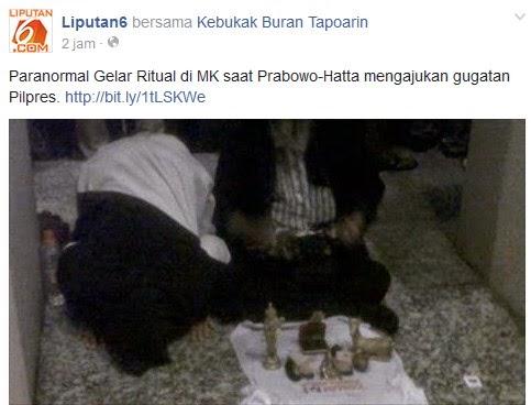 Paranormal dan Dukun Prabowo
