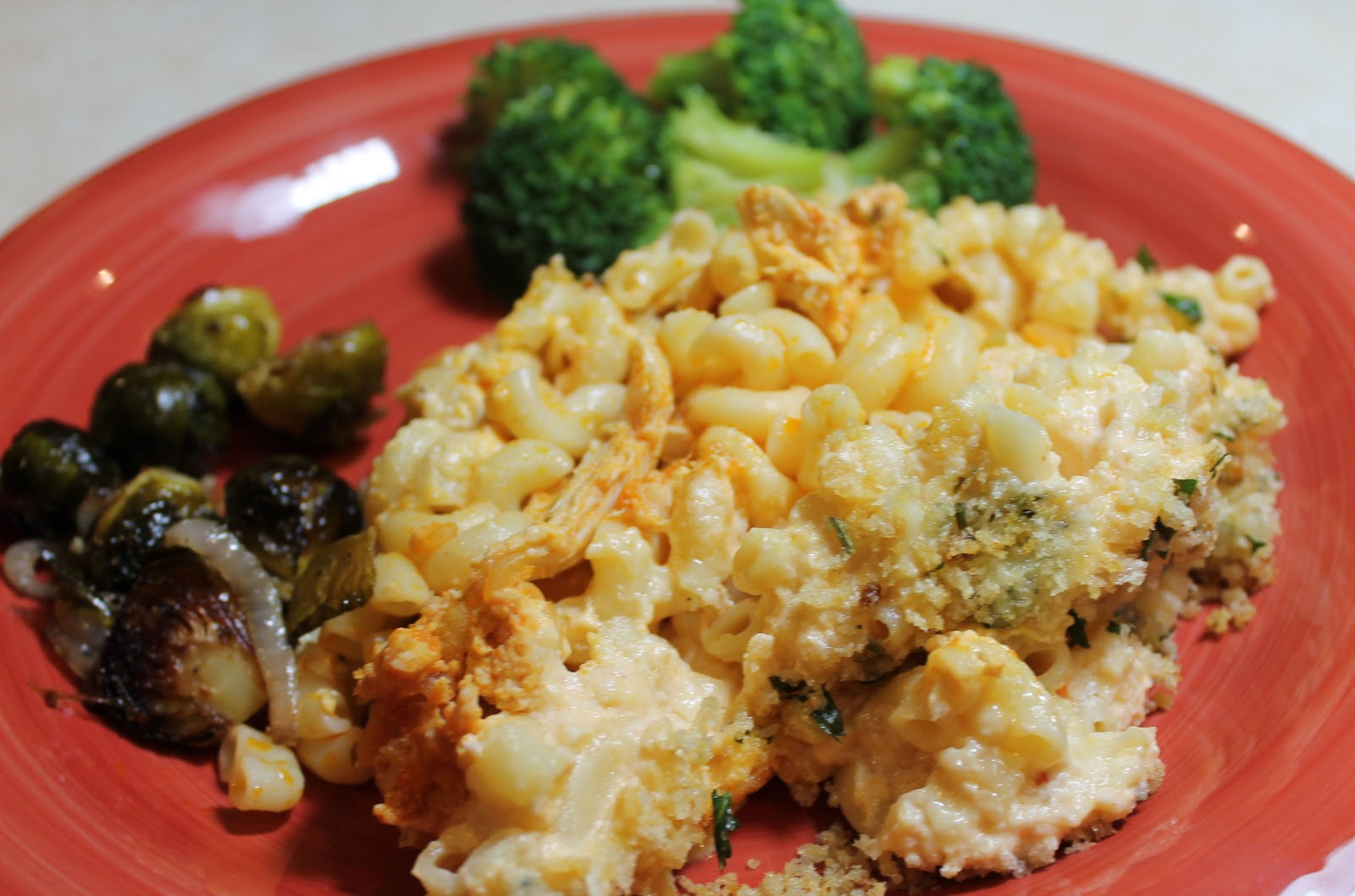 Buffalo-Chicken Macaroni and Cheese - Just One Donna