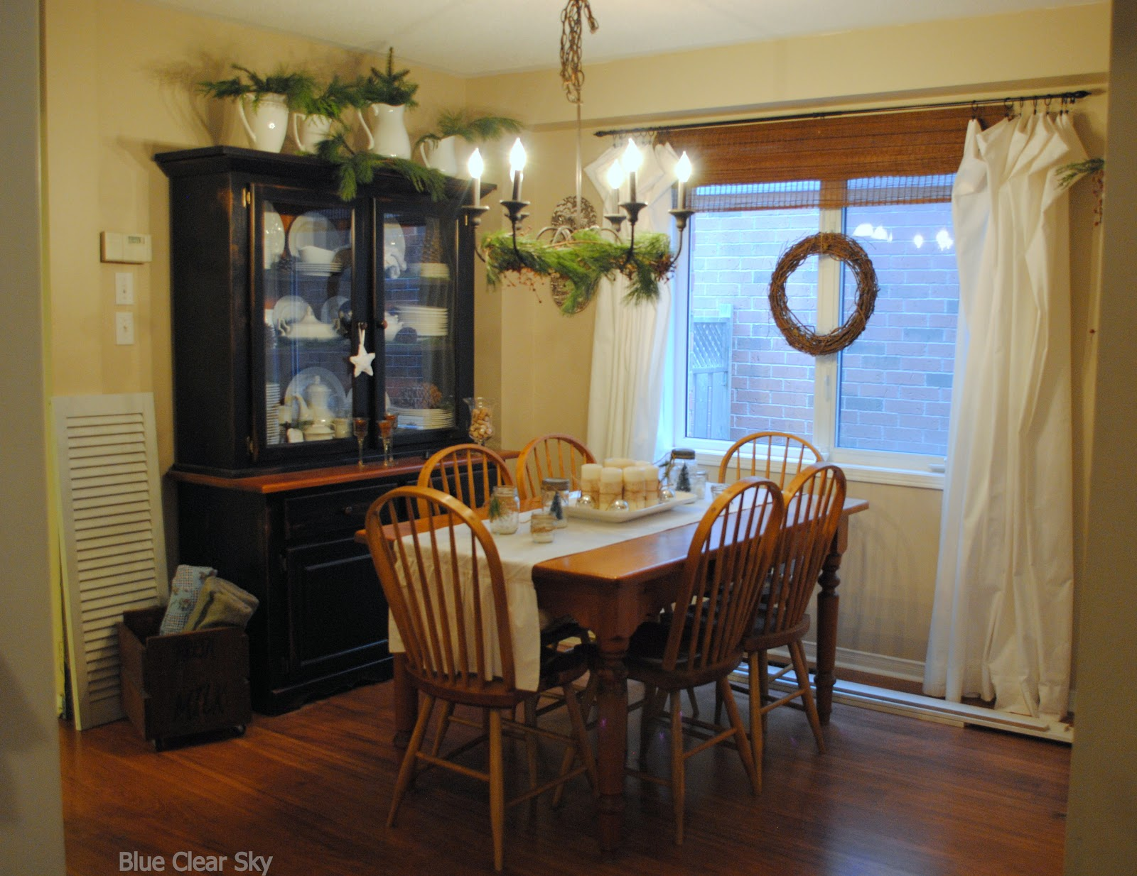 rustic maple christmas 2012 our dining room