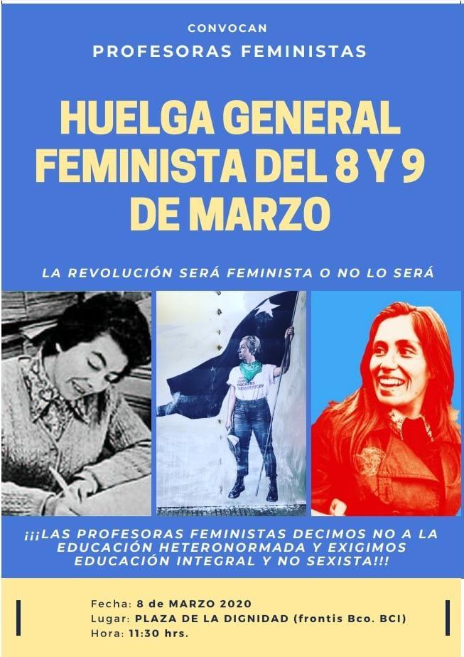 HUELGA GENERAL FEMINISTA DEL 8 Y 9 DE MARZO 2020
