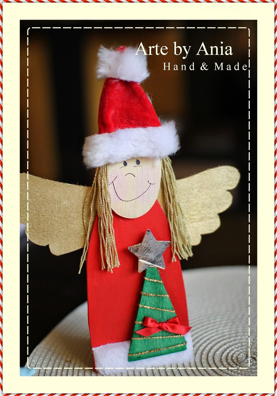 aniołek ręcznie wykonany