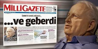 Milli Gazete'den Ariel Şaron'un ölümüne: Ümmete kandil müjdesi; ve geberdi!