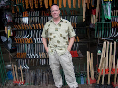 Tom at a knife shop in Cebu, Philippines