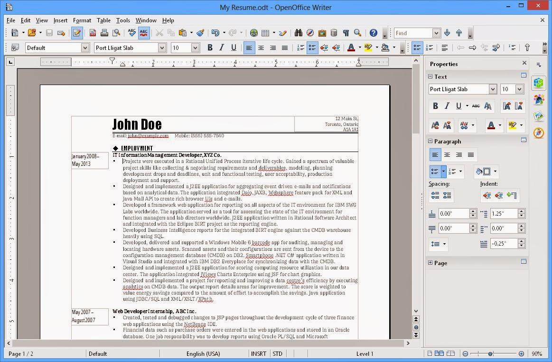 Open Office 4.1