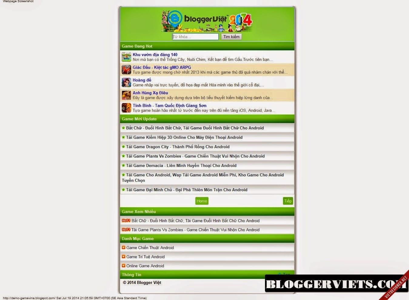 Share Free 2 Template Blogspot Wap Game Mobile Đẹp