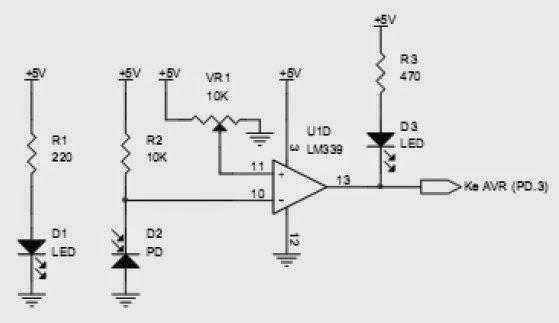line sensor as white floor detector for fire extinguisher