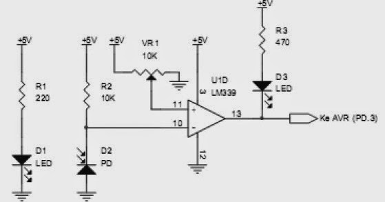 line sensor as white floor detector for fire extinguisher circuit schematic