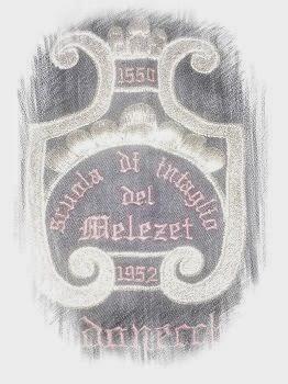 stemma ricamato della Scuola Intaglio Melezet