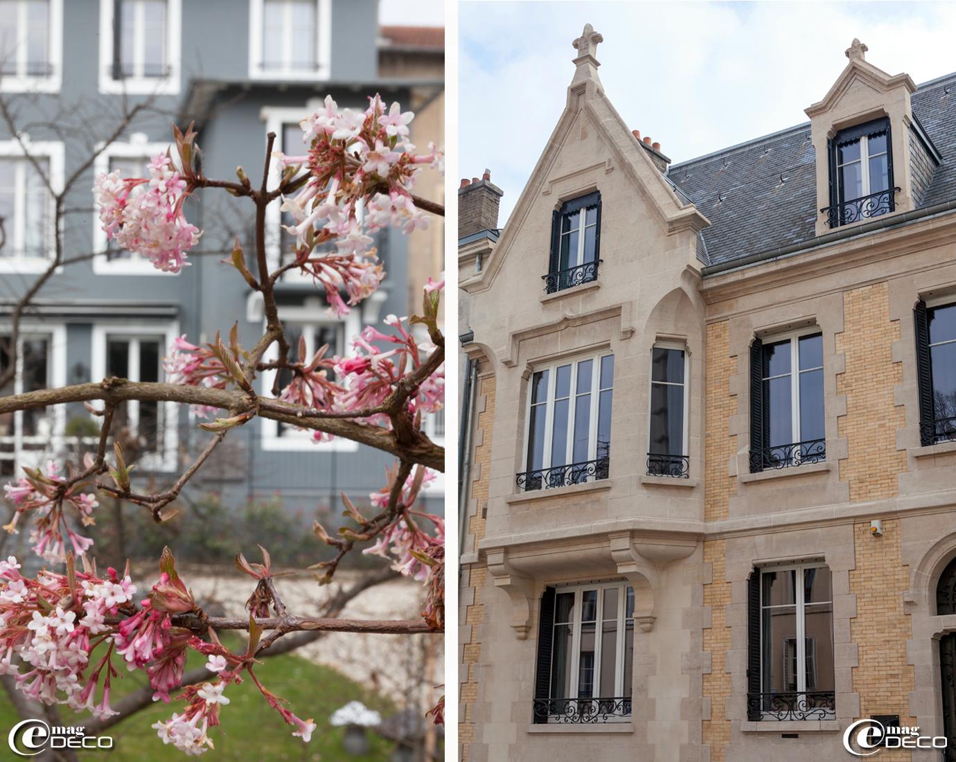 Façade sur l'avenue Général Leclerc de la maison d'hôtes 'La Villa 1901' à Nancy