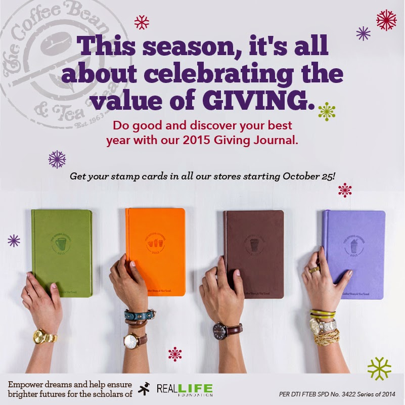 Start Collecting Stamps for The Coffee Bean & Tea Leaf's 2015 Giving Journal on October 25