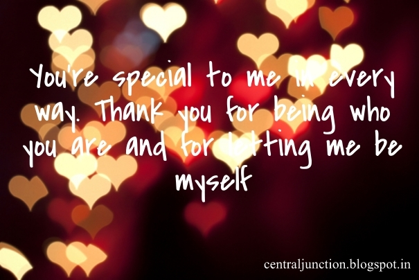 You are special to me i love you