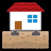 住宅の基礎工事のイラスト