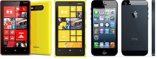 perbandingan iphone 5 vs nokia lumia 920, daftar hp canggih terbaru 2013, iphone sama lumia bagusan mana?, kamera iPhone 5 dengan Lumia 920 bagusan mana?