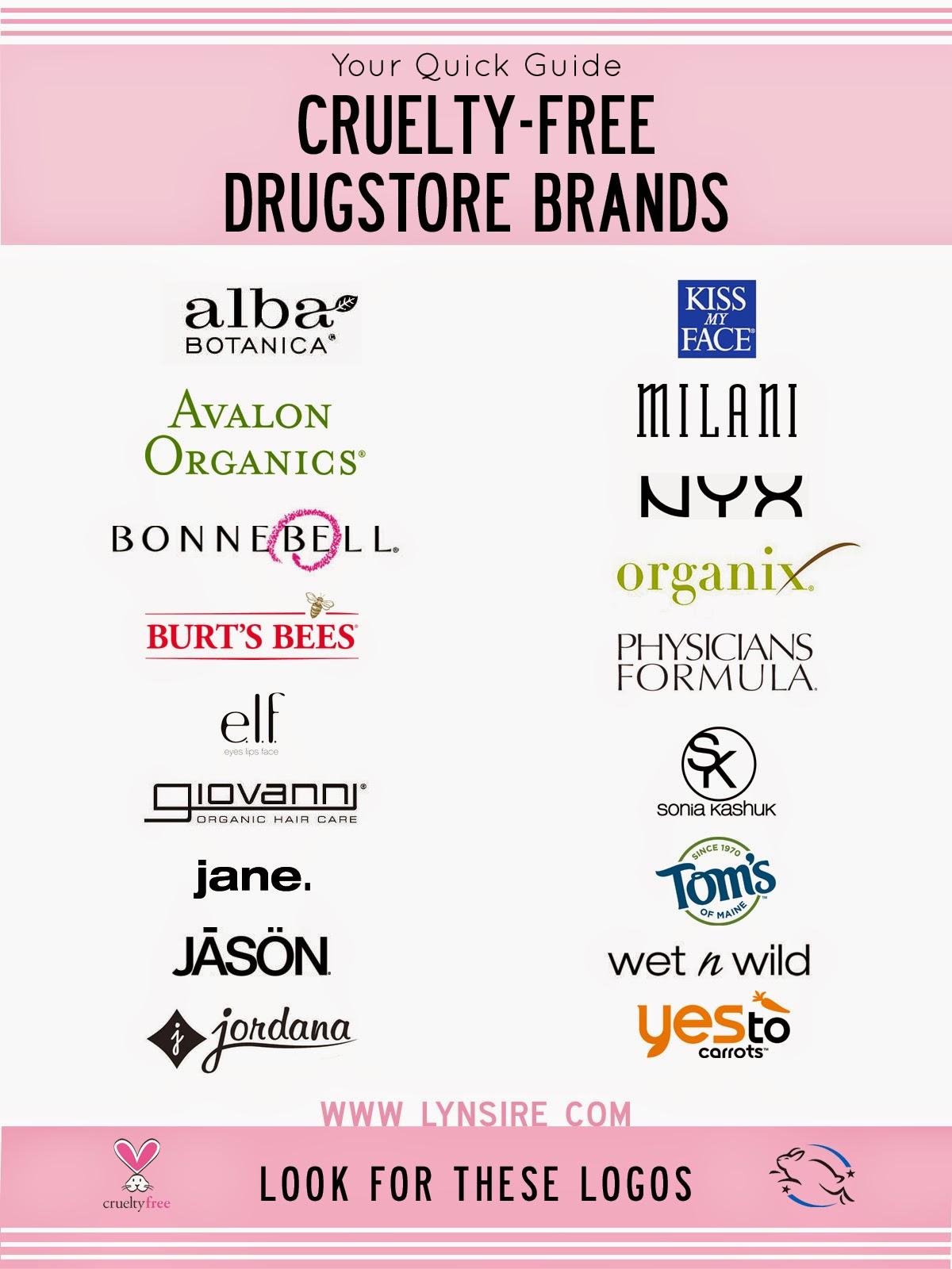 Cruelty-Free Drugstore Beauty Brands : LynSire: Cruelty-Free Life