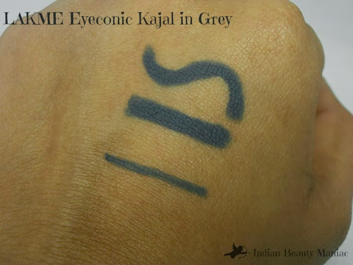 Lakme eyeconic Kajal in Grey Swatch