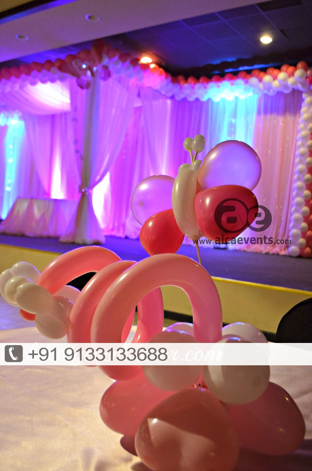 Aicaevents India Pretty in Pink 1st Birthday party