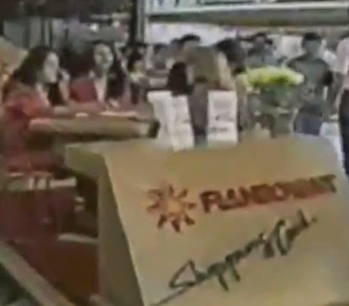 Propaganda do Shopping Flamboyant (Goiânia) nos anos 80.