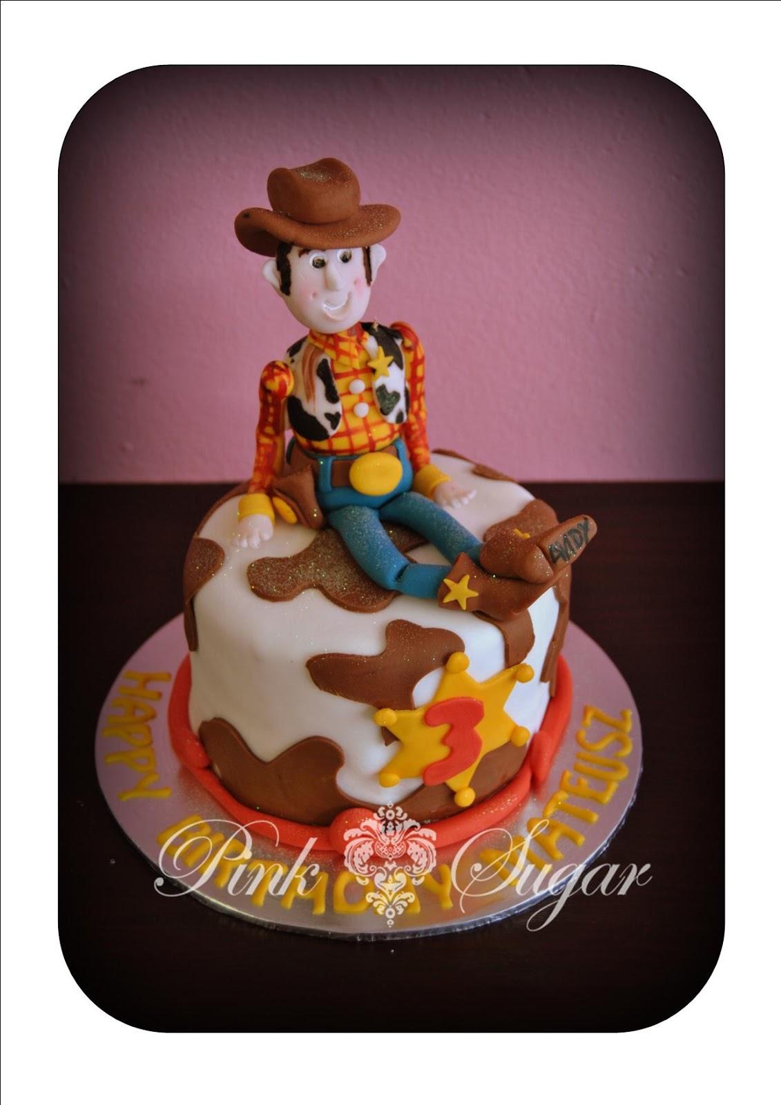 pink sugar  toy story woody birthday cake