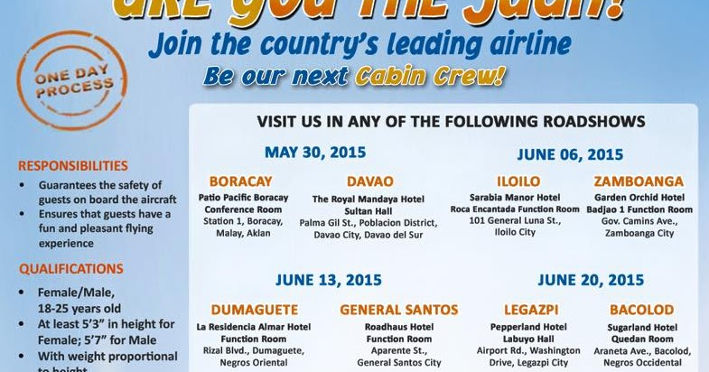 The Intersections Beyond Job Hiring Cabin Crews For Cebu Pacific Air May July 2017