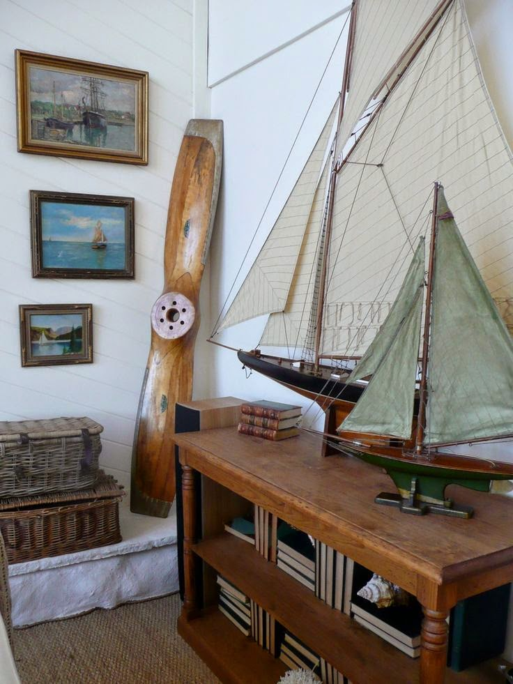 Decorative sailboats and nautical design nautical handcrafted decor blog - Model home interior decorating ideas ...