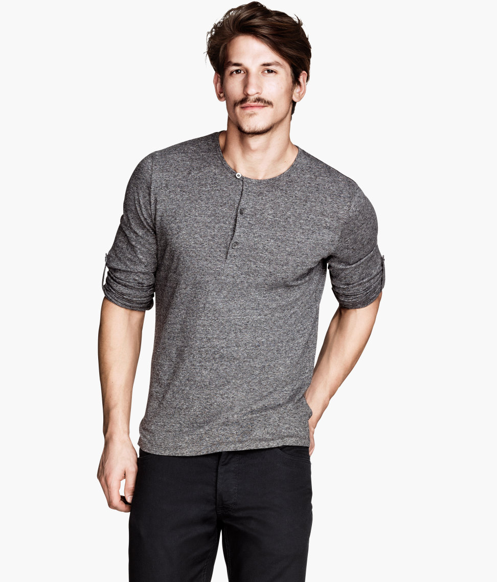 Bmcstyle mens fall trends 2013 for H m mens henley t shirt long sleeve