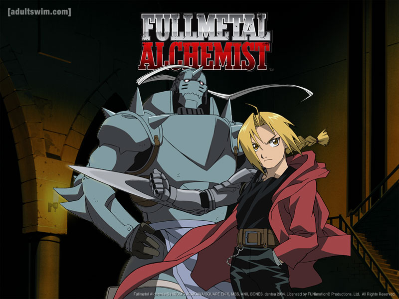 This anime is really common and super popular,Fullmetal Alchemist.