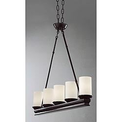 Pottery barn veranda linear chandelier decor look alikes indoor 5 light mahogany chandelier mozeypictures Images