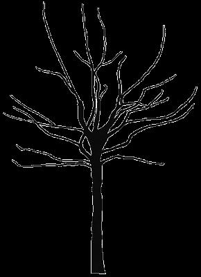 Bare Tree Clip Art Black and White