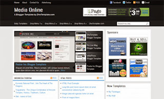 Media Online - Free News Blogger Template