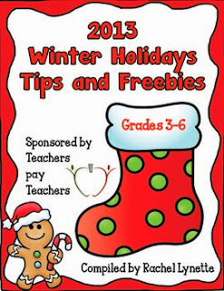 http://www.teacherspayteachers.com/Product/2013-Winter-Holidays-Tips-and-Freebies-Grades-3-6-Edition-1008289