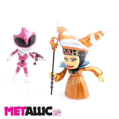 "San Diego Comic-Con 2015 Exclusive Mighty Morphin Power Rangers ""Metallic"" Rita Repulsa vs Pink Ranger 2 Pack by The Loyal Subjects"