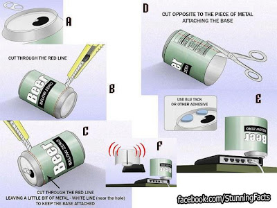 YOU CAN BOOST THE SIGNAL OF YOUR WI-FI BY USING A CAN