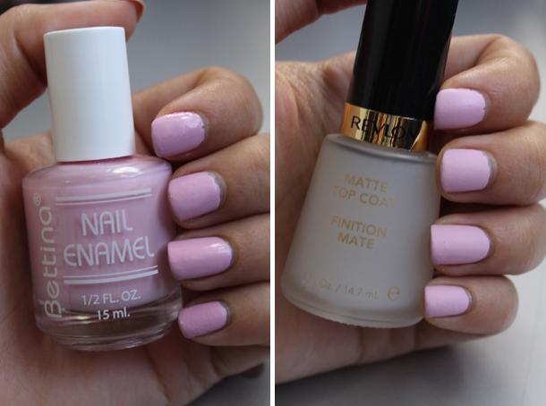 bettina cotton candy matte nail polish top coats loreal revlon spring