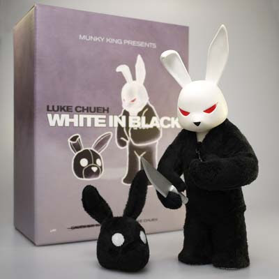 San Diego Comic-Con 2011 Exclusive White In Black Vinyl Figure and Packaging by Luke Chueh