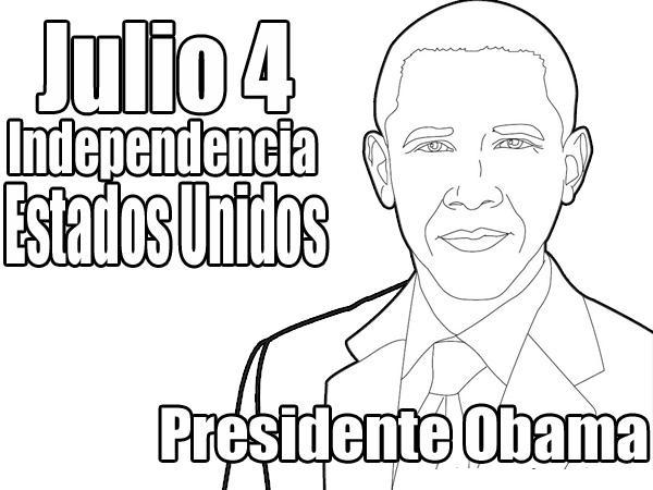 Dibujo de Obama en El Dia de la Independencia de Los Estados Unidos ...