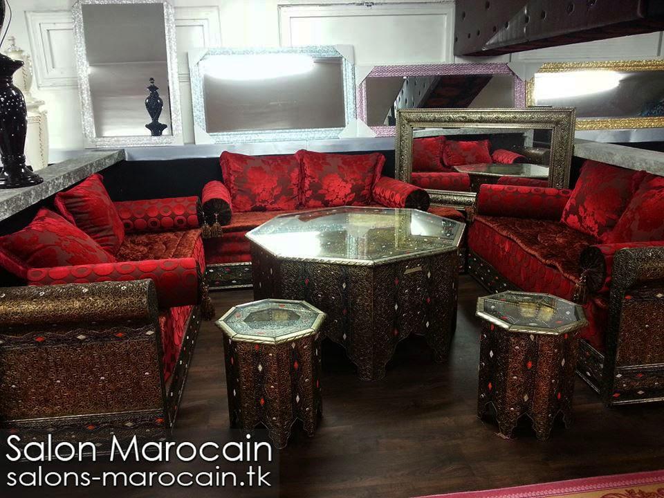 Salon Marocain Beige Et Marron. Fabulous Salon Marocain Turquoise ...