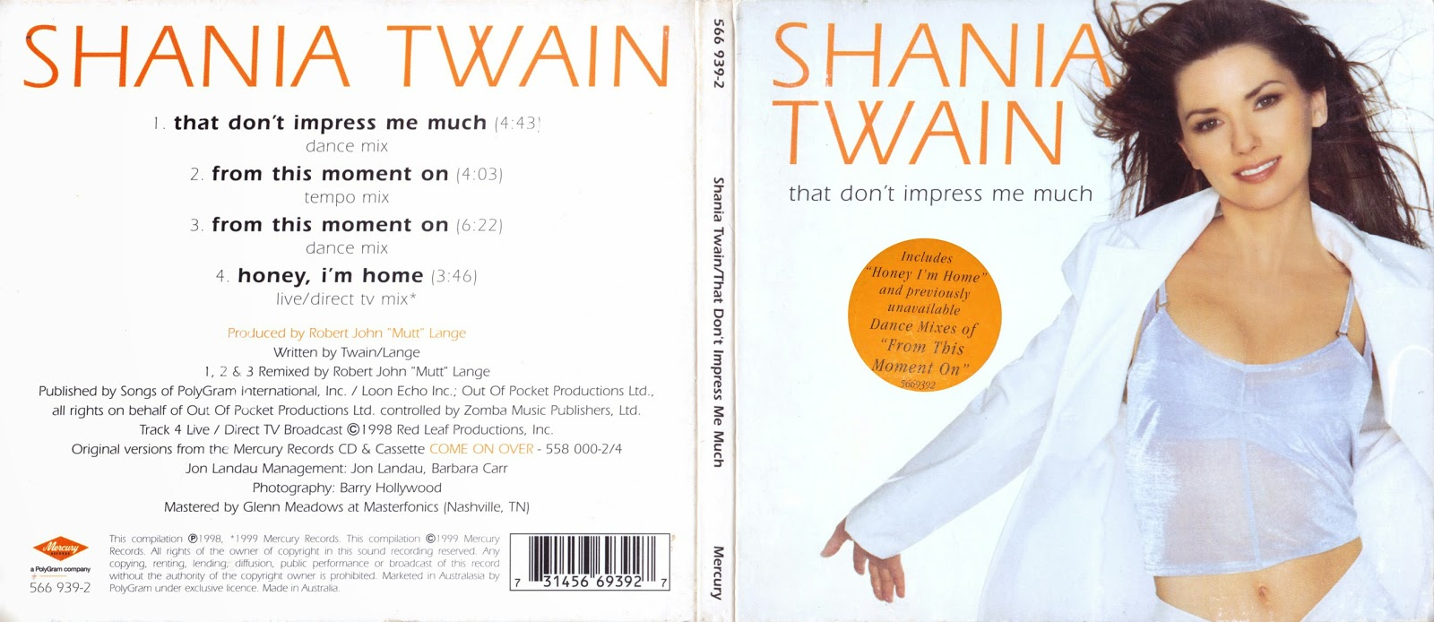 shania twain discography blogspot