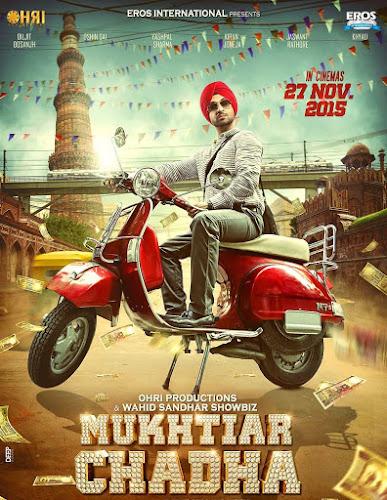 Poster Of Bollywood Movie Mukhtiar Chadha 2015 Full Punjabi Movie 100MB HDRip HEVC Mobile Free Download