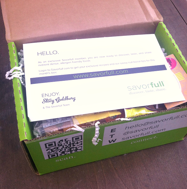Savorfull Allergy-Free Food Subscription Box Review - August 2012