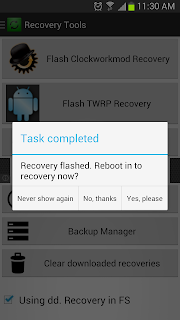 galaxy s3 twrp recovery flashing finished