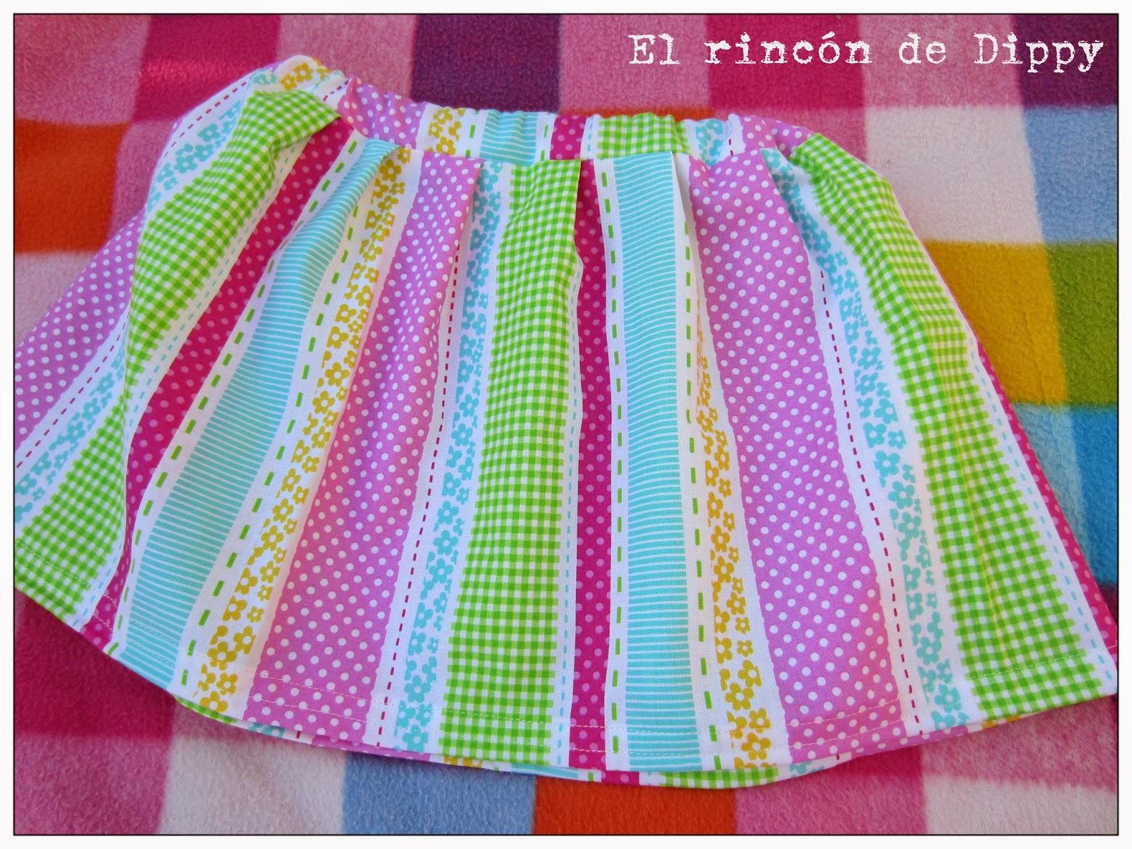 coser una falda sencilla para niña