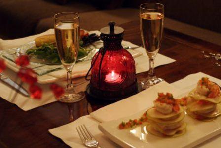 Recetas cena romantica en casa para mi novio