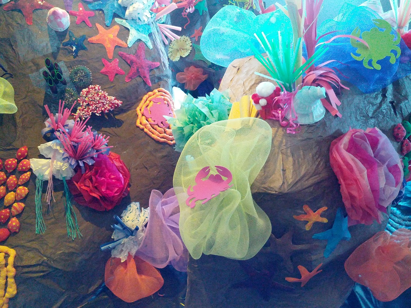 how to make coral reef out of paper