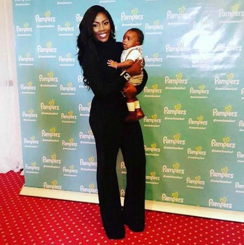 Tiwa Savage's son makes red carpet debut...(photo)