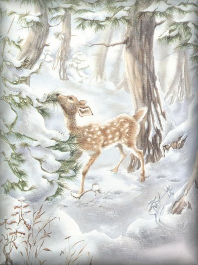 Days passed and winter deepened the deer in the forest could not