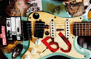 billie joe guitar stickers blue