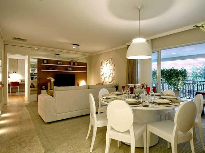 Sala De Jantar E Sala De Tv Juntas ~ 30 Salas de Jantar e Estar Integradas + Dicas e Tendências!  Decor