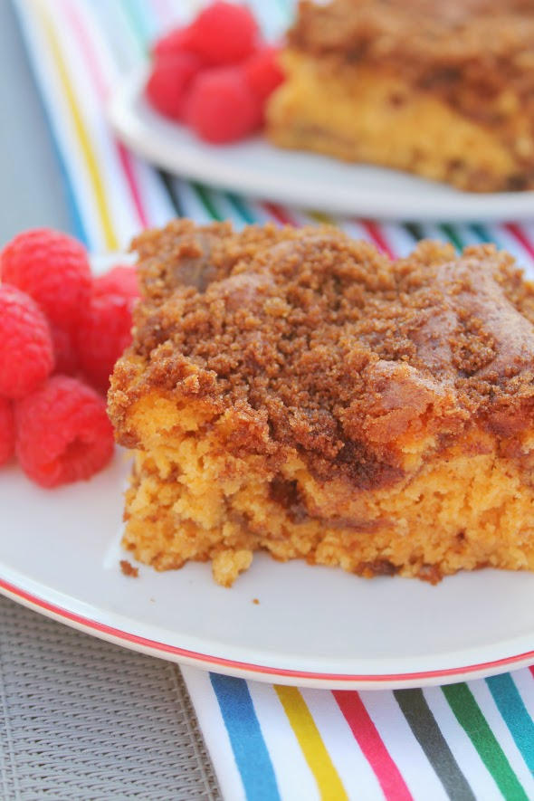 The best coffee cake! Uses butterscotch and vanilla pudding. Super easy to make - crowd pleaser.